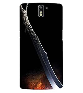 ColourCraft Amazing Blade Design Back Case Cover for OnePlus One
