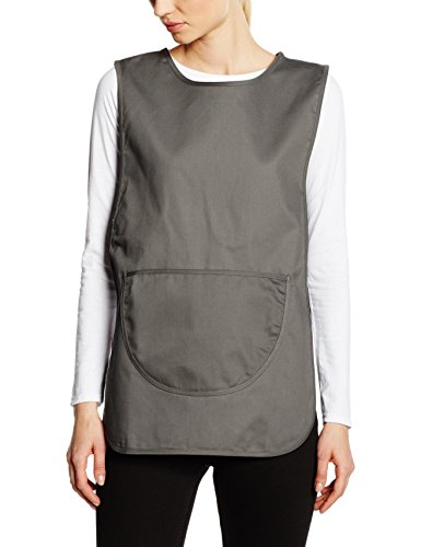 Premier Workwear Ladies Pocket Tabard, Top Donna, Grigio (Dark Grey), Large
