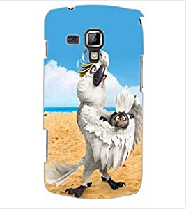 ColourCraft Funny Parrot Design Back Case Cover for SAMSUNG GALAXY S DUOS 2 S7582