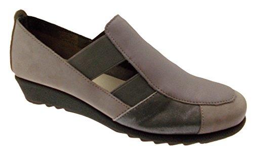 scarpa sandalo accollato elastico grigio taupe art 70101 37 grigio