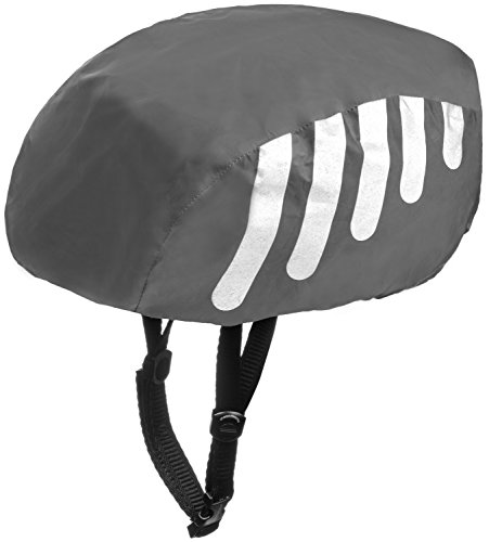 Wealers High Visibility Waterproof Helmet Cover For Bike / Bicycle with Reflective Stripes - Adjustable Fit One Size Fits Most (Black) (Cycling Helmet Cover compare prices)