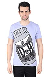 Simpsons - Homer's Favourite Drink Purple T-Shirt