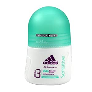ADIDAS SENSITIVE by Adidas ANTI-PERSPIRANT ROLL-ON DEODORANT ALCOHOL FREE 1.7 OZ for Women