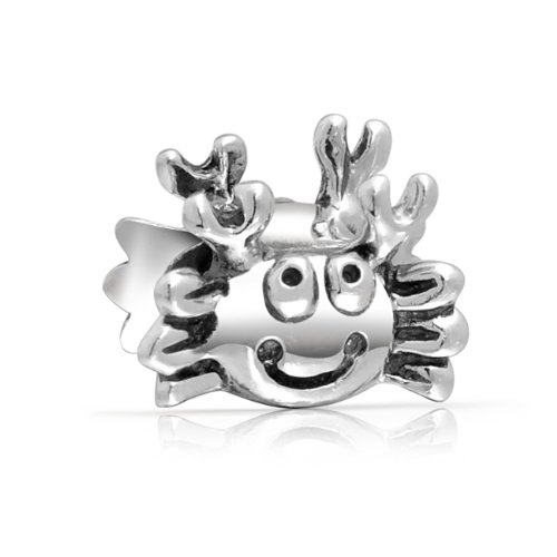 Bling Jewelry Crab 925 Sterling Silver Animal Bead Compatible with Pugster Pandora Biagi