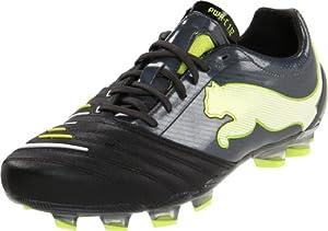 Puma Men's Powercat 1.12 FG Soccer Shoe,Black/Dark Shadow/White/Lime Punch,10 D US