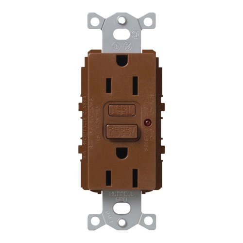 Lutron Scr-15-Gftr-Si Satin Colors 15A Gftr Electrical Socket Receptacle, Sienna