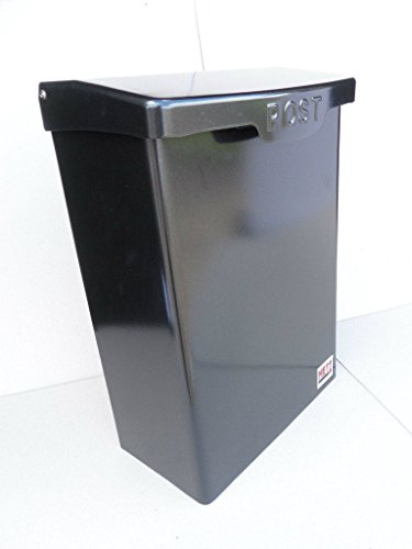 Generic Large Letter Box, Post Box Mail Box Letterbox Black A4 lockable outdoor