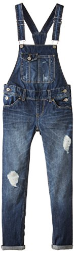 Levi's Big Girls' Descrution Overall, Indigo Muse, 12