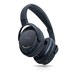 Photive BTH3 Bluetooth 4.0 Headphones with Built-in Mic and 12 Hour Battery. Includes Hard Travel Case. 2014 New Release