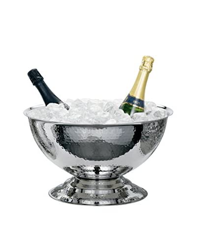 Torre and Tagus Kiro Hammered Pedestal Punch Bowl Wine Chiller