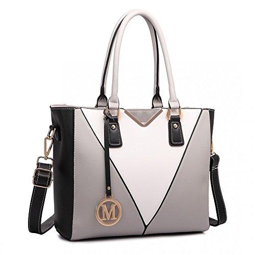 miss-lulu-leather-look-v-shape-shoulder-handbag-grey