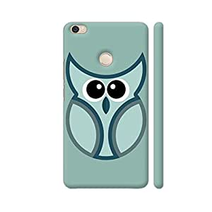 Colorpur Big Eye Silver Owl Designer Mobile Phone Case Back Cover For Xiaomi Mi Max | Artist: Designer Chennai