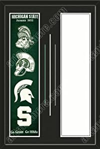 Michigan State Spartans & Your Team Heritage Banner Framed-House Divided-House... by Art and More, Davenport, IA