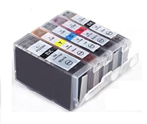 Canon CLI8 / PGI5 WITH CHIP - Multipack Set of 5 Canon Compatible Printer Ink Cartridges for Canon Pixma MP500, MP530, MP600, MP600R, MP610, MP800, MP800R, MP810, MP830, iP4200, iP4300, iP4500, iP5200, iP5200R, iP5300, Printer Inks - CLI-8 / PGI-5 (Contains: CLI-8C, CLI-8Y, CLI-8M, CLI-8B, PGI-5BK) MP 500, MP 530, MP 600, MP 600R, MP 610, MP 800, MP 800R, MP 810, MP 830, iP 4200, iP 4300, iP 4500, iP 5200, iP 5200R, iP 5300, - Latest Chip Installed, Ready For Use, No Fuss!