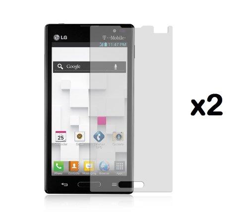 Lg Optimus L9 P769 (T-Mobile, Metro Pcs) - Premium Combo Pack - 2 Transparent Clear Screen Protectors + Atom Led Keychain Light