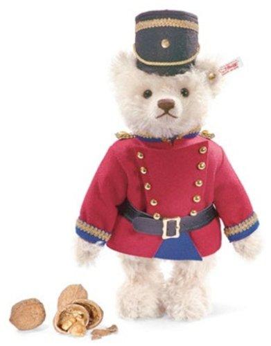 Steiff 037269 - Teddybär Nussknacker, weiss