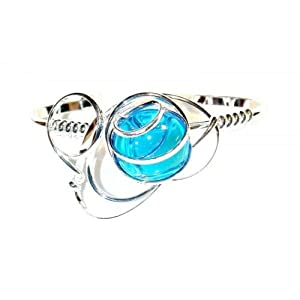 PIK - 130302207 - Passion du fil - Bracelet pour femme - Strass bleu clair aigue marine - Taille 15