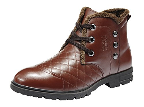 Guciheaven Winter Men New Style Caual Cow Leather Short Boots(9 D(M)Us, Tan)