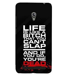 printtech Dead Quote Back Case Cover for Asus Zenfone 6::Asus Zenfone 6 A600CG