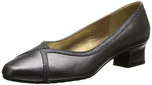 Hush Puppies Soft Style Lanie Heels -Dark Pewter 9 W, Dark P