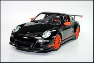 Porsche 911 (997) GT3 RS Black 1/24 Scale