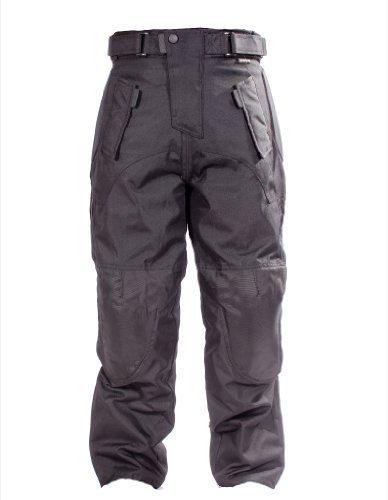 OnTour Moto Renfort CE Imperméable Textile doublé Pantalons Large: 81,3-86,4cm