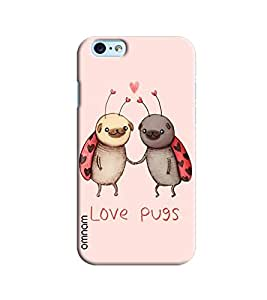 Omnam Love Pugs Animal Printed Designer Back Cover Case For Apple iPhone 6 / 6S