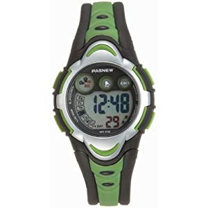 LED Waterproof Sports Digital Watch for Children Girls Boys (Green)