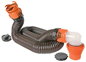 Camco 39761 RhinoFLEX 15' RV Sewer Hose Kit with Swivel Fittings by Camco