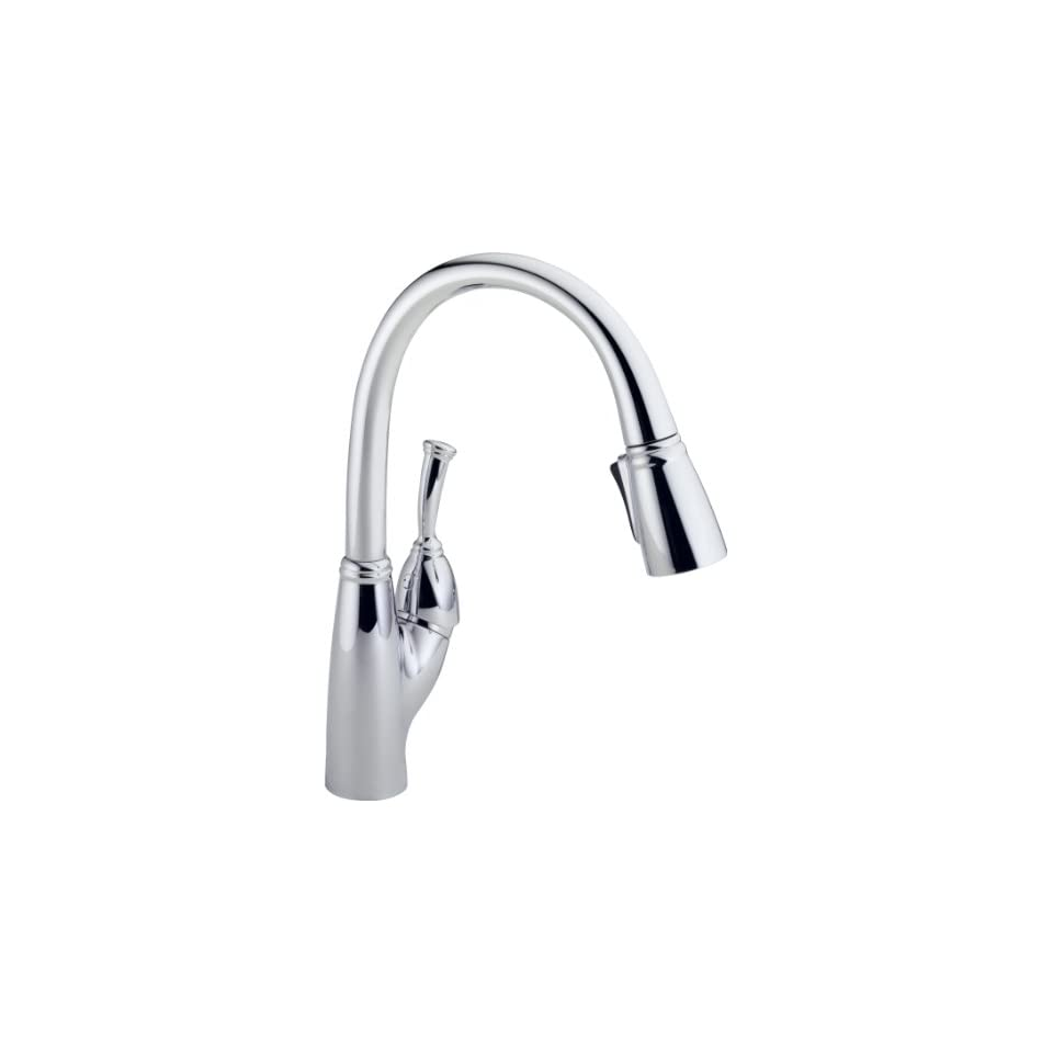 Delta 989 DST Allora Single Handle Pull Down Kitchen Faucet, Chrome