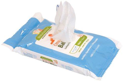 Imagen de Crema Kleen Babyganics Thick N 'Infusión Toallitas para bebés, Paquete Soft con tapa, 40-Count (paquete de 6)