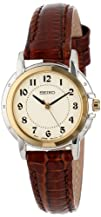 Seiko Womens SXGA02 Brown Leather Strap Watch