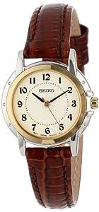 Seiko Women's SXGA02 Brown Leather Strap Watch