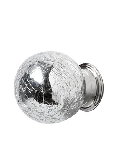 Torre & Tagus Set Of 2 Silver Crackle Knobs