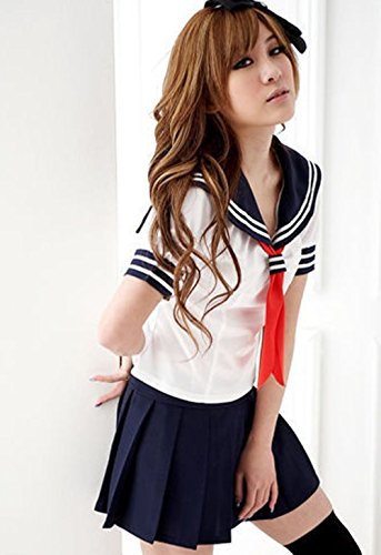 NEW!  (Japanese Schoolgirl Sailor Uniform Cosplay Costume)