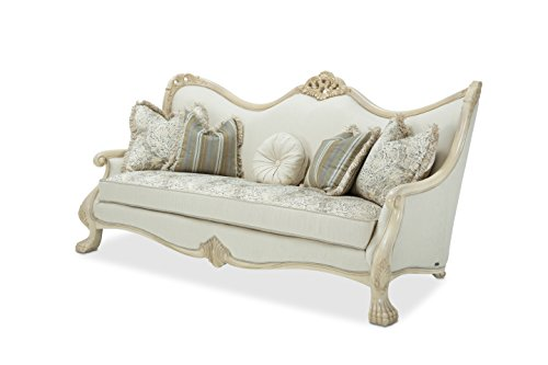 Michael Amini 9052815-ALBST-04 Chateau de Lago Wood Trim Sofa, Blanc (Sofa With Wood Trim compare prices)