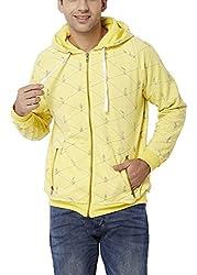 Chumbak Men's Cotton Sweatshirt (8904218038775_CTS071 L_Large_Yellow)