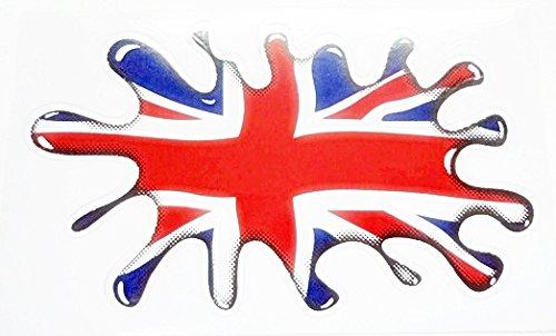 1x Water Drop British UK Union Jack United Kingdom Flag Vinyl Sticker Decal (British Car Flag compare prices)