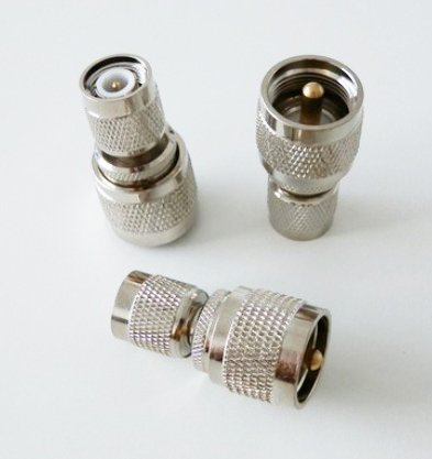 Rf Coaxial Coax Adapter Tnc Male To Uhf Male Pl-259 Pl259 Connector