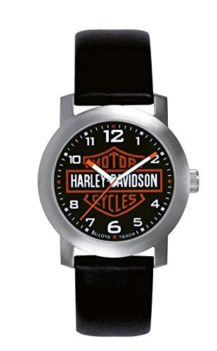 Harley Davidson - 76A04 - Montre Homme - Quartz Analogique - Bracelet Cuir Noir
