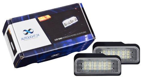 LED Kennzeichenbeleuchtung Nummernschildbeleuchtung Mercedes W211/S211 E-Klasse Kombi + Limousine 02-09 mit E-Prüfzeichen