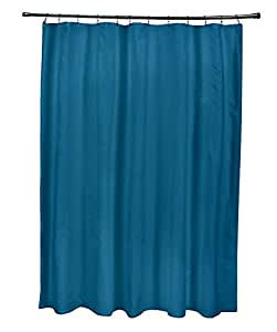 ebydesign sso n74 teal solid shower curtain