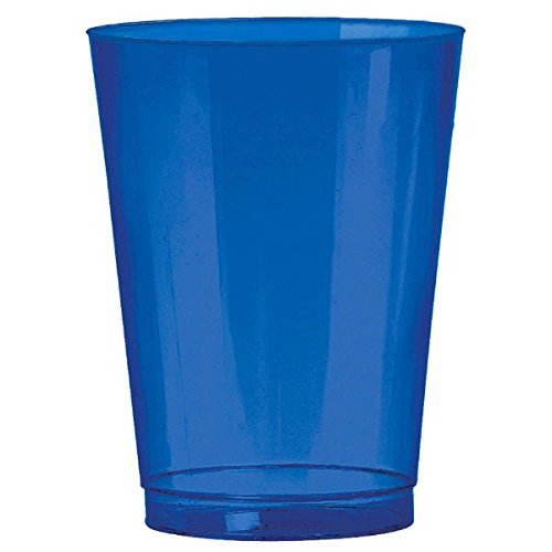 Amscan Big Party Pack Plastic Bright Cups, 10 oz., Royal Blue