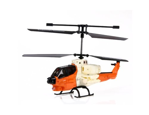 XINXUN X25 3.5-Channel R/C Infrared Control Alloy Helicopter with Light EMS Shipping (Orange)