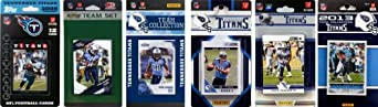 NFL Tennessee Titans 6 Different Licensed Trading Card Team Sets by C&I Collectables