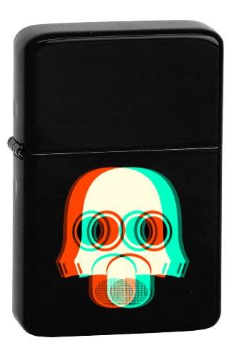 Vector KGM Thunderbird Custom Lighter - 3D Biohazard Gas Mask Human Face Black Matte