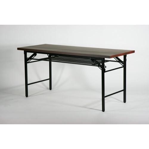 ■棚付■折りたたみ 折畳み 会議テーブル 会議用テーブル 高脚 ミーティングテーブル■7651MB■150x60x70cm