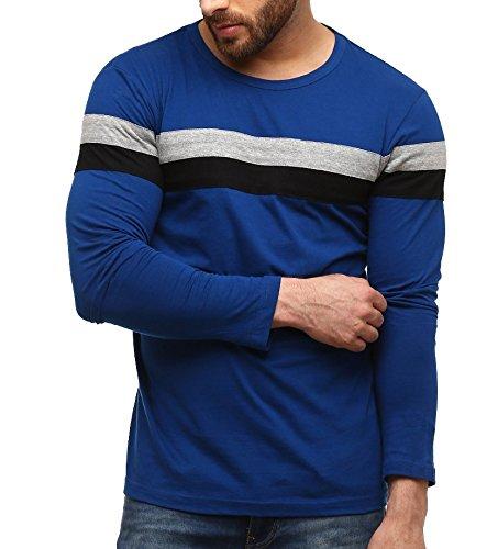 #9: Blue Round T-Shirt-GSFS767INDGRYBLK