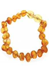 RAW AMBER BRACELET Amberbeata Certified 100% Genuine Baltic Amber Teething Bracelet Raw and Anklet Baby Beads for Teethers