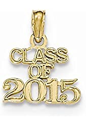 14k Class of 2015 Cut-out Pendant